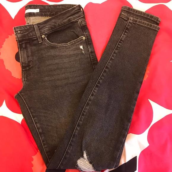 56f6782a Levi's Jeans   Levis Wedgie Fit Skinny Soft Ultra Black Sz 26   Poshmark